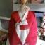 """Hanbok สีแดงขาวปักมือ อก 40"""" สูง 163 thumbnail 2"""