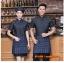 F6012014 เสื้อฟอร์มพนักงานเครื่องแบบชุดฟอร์มพนักงานร้านอาหารกาแฟโรงแรม แขนสั้นผ้าฝ้ายกระดุมหน้า thumbnail 2