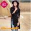 UM6102013 เสื้อยืดแขนยาวโมฮีเมียนสีดำ เย็บปักถักร้อยชาติพันธุ์ thumbnail 1