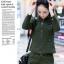 HW6010001 กางเกงทหารหญิงฤดูใบไม้ผลิและฤดูร้อนสีเขียวกองทัพ(พรีออเดอร์) รอ 3 อาทิตย์หลังโอนเงิน thumbnail 5