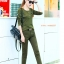 ้HW6107009 กางเกงขายาวทหารหญิงสีเขียวกองทัพทหาร+เสื้อ แฟชั่นเกาหลี (พรีออเดอร์) รอ 3 อาทิตย์หลังโอนเงิน thumbnail 1