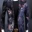 JM6102013 เสื้อสูทลำลองผู้ชายเสื้อสูทงานเลี้ยงพิมพ์ลายแบบตะวันตก thumbnail 3
