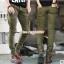 HW6107007 กางเกงขายาวทหารหญิงสีเขียวกองทัพทหาร แฟชั่นเกาหลี (พรีออเดอร์) รอ 3 อาทิตย์หลังโอนเงิน thumbnail 3