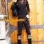 UM6102008 เสื้อยืดแขนยาวโมฮีเมียนสีดำ เย็บปักถักร้อยชาติพันธุ์ thumbnail 5