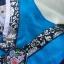 Hanbok Girl ฮันบกผ้าไหมอย่างดีสีฟ้าสดใส สำหรับเด็ก 3 ขวบ thumbnail 3