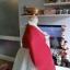 """Hanbok สีแดงขาวปักมือ อก 40"""" สูง 163 thumbnail 5"""