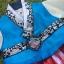 Hanbok Girl ฮันบกผ้าไหมอย่างดีสีฟ้าสดใส สำหรับเด็ก 3 ขวบ thumbnail 2