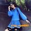 UM6102010 เสื้อยืดแขนยาวโมฮีเมียนสีฟ้า เย็บปักถักร้อยชาติพันธุ์ thumbnail 1