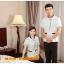 D6103001 สื้อพนักงานทำความสะอาด เสื้อแม่บ้าน เสื้อแม่บ้านโรงแรมรีสอร์ท L-3XL thumbnail 4