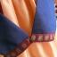 Hanbok สีกรมท่าตัดส้มปักมือดิ้นทอง เด็กโต สูง 150 thumbnail 5