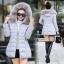 CW6011003 เสื้อโค็ชกันหิมะแต่งเฟอร์ขนผ้าฝ้ายโพลีเอสเตอร์ (พรีออเดอร์) thumbnail 1