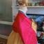 "Hanbok สีแดงปักมือดิ้นเงิน อก 40"" สูง 160 thumbnail 5"