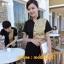 F6101001เสื้อฟอร์มพนักงานเครื่องแบบชุดฟอร์มพนักงานร้านอาหารกาแฟโรงแรม แขนสั้นผ้าฝ้ายกระดุมหน้า thumbnail 2