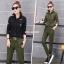 HW6107010 กางเกงขายาวทหารหญิงสีเขียวกองทัพทหาร แฟชั่นเกาหลี (พรีออเดอร์) รอ 3 อาทิตย์หลังโอนเงิน thumbnail 1