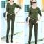 ้HW6107009 กางเกงขายาวทหารหญิงสีเขียวกองทัพทหาร+เสื้อ แฟชั่นเกาหลี (พรีออเดอร์) รอ 3 อาทิตย์หลังโอนเงิน thumbnail 3