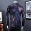 JM6102013 เสื้อสูทลำลองผู้ชายเสื้อสูทงานเลี้ยงพิมพ์ลายแบบตะวันตก thumbnail 4