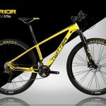 จักรยานเสือภูเขาเฟรมคาร์บอน Twitter Warrior 2018 ล้อ 29 นิ้ว ชุดเกียร์ Shimano SLX 22 Speed โข๊คลม สีเหลือง