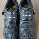 รองเท้าจักรยานคลีตแบบ 2 in 1 รองรับคลีตหมอบและภูเขา Tiebao รุ่น TB36 สีดำ