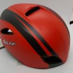 หมวกปั่นจักรยาน S-Fight รุ่น JT131 สีแดงคาดดำ