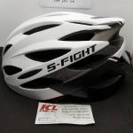 หมวกปั่น S-Fight รุ่น GH08 สีขาวดำ สำหรับรอบศรีษะ 58-62 ซม.