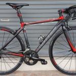 จักรยานเสือหมอบ Twitter Hunter เฟรม Top Aluminium สีดำแดง ชุดขับ Shimano Sram Apex 20 Speed Groupset ดุมล้อแบริ่ง กระโหลกกลวง