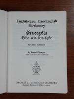 ENGLISH-LAO, LAO-ENGLISH DICTIONARY