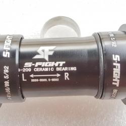 กระโหลก Ceramic อัดรุ่นใหม่ จาก S-Fight รุ่น S340 สีดำ ใช้กับขาจาน 24 มม. มีอะแดปเตอร์ 22 มม. สำหรับขาจาน Sram