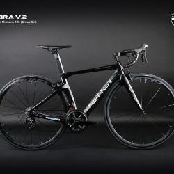 จักรยานเสือหมอบ Twitter รุ่น Cobra V2 เฟรมเซ็ต Carbon ชุดเกียร์ Shimano 105 22 Speed Groupset พิเศษเฟือง Sram และโซ่ YBN Black Titanium Coat ลดน้ำหนัก