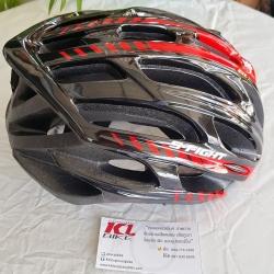 หมวกปั่น S-Fight สีดำแดง ไซส์ M สำหรับรอบศรีษะ 54-58 ซม.