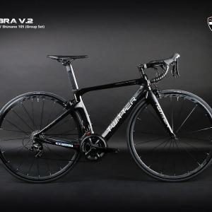 เสือหมอบ Twitter รุ่น Cobra V2 สีดำล้วน เฟรมเซ็ต Carbon ชุดเกียร์ Shimano 105 22 Speed Groupset พิเศษเฟือง Sram และโซ่ YBN Black Titanium Coat ลดน้ำหนัก