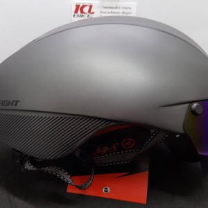 หมวกปั่นทรงแอโร่ S-Fight รุ่น GH06 สีเทาไททาเนียม มีแว่นแม่เหล็ก สำหรับรอบศรีษะ 55-61 ซม.