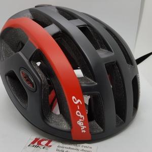 หมวกปั่นจักรยาน S-Fight รุ่น JT137 สีดำคาดแดง