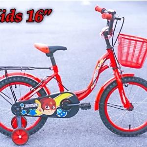 จักรยานเด็ก Maximus รุ่น Hero ล้อ 16 นิ้ว ล้อช่วยข้าง เฟรมเหล็ก ทรงโค้ง