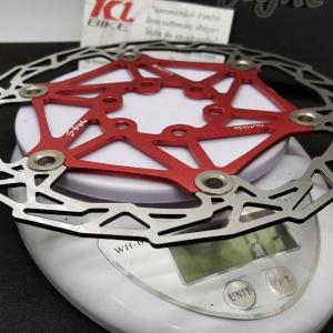 ใบจานดิสก์เบรค 2 ชั้น S-Fight สีแดง น้ำหนักเบา ระบายความร้อนดีกว่า ให้ตัวได้