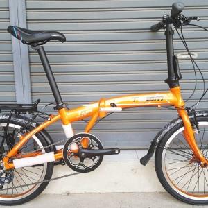 จักรยานพับเฟรมอลูมิเนียม สุดยอดด้วยดุม Novatec เกียร์ Claris 8 Speed ยี่ห้อ Team รุ่น F2095 สีส้ม ตะเกียบโครโมลี