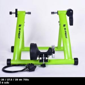 เทรนเนอร์จักรยาน S-Fight 2018 สีเขียว พร้อมรีโมทปรับระดับความหนืดได้ ถาดรองล้อและแกนปลดเร็ว