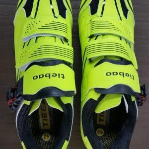 รองเท้าจักรยานคลีตแบบ 2 in 1 รองรับคลีตหมอบและภูเขา Tiebao รุ่น TB36 สีเหลืองนีออน