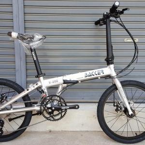 จักรยานพับ ล้อ 20 นิ้ว Twitter Backer รุ่น K200 เฟรมอลูสีบรอนซ์เงิน เกียร์ Shimano Sora 18 Speed ดุมล้อแบริ่ง จุดพับ Auto