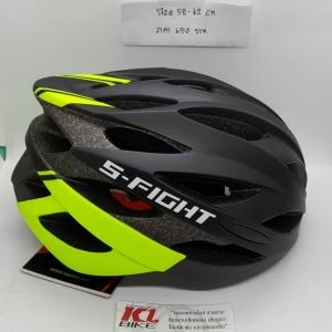 หมวกปั่น S-Fight รุ่น GH08 สีดำเขียวนีออน สำหรับรอบศรีษะ 58-62 ซม.