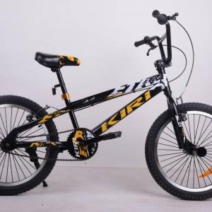 BMX ยี่ห้อ Kiri รุ่น Etna สีดำเหลือง ล้อขนาด 20 นิ้ว มีที่พักเท้าขนาดจัมโบ้
