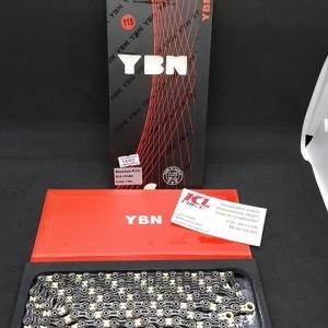 โซ่ดำทอง ชุบไททาเนียม เซาะร่อง YBN รุ่น Black Gold 11 Speed