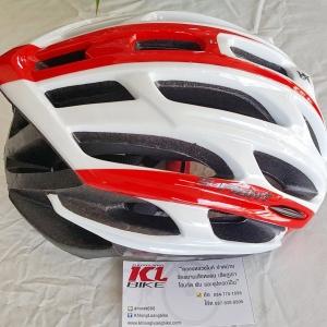 หมวกปั่น S-Fight สีขาวแดง ไซส์ M สำหรับรอบศรีษะ 54-58 ซม.