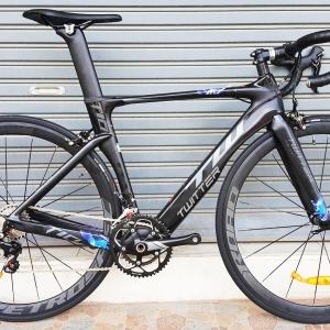 จักรยานเสือหมอบ Twitter T10 เฟรม Carbon สีดำล้วน ชุดเกียร์ Shimano 105 22 Speef ไม่กรุ๊ปเซ็ต ดุมล้อแบริ่ง กระโหลกกลวง Pressfit