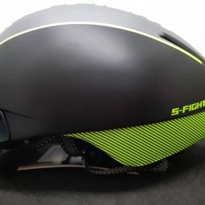 หมวกปั่นทรงแอโร่ S-Fight รุ่น GH06 สีดำเหลืองนีออน มีแว่นแม่เหล็ก สำหรับรอบศรีษะ 55-61 ซม.