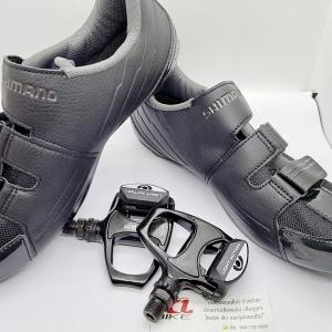 Combo Shimano Set รองเท้ารุ่น RP3 Black รับทันที บันไดคลีตรุ่น R540 Light Action