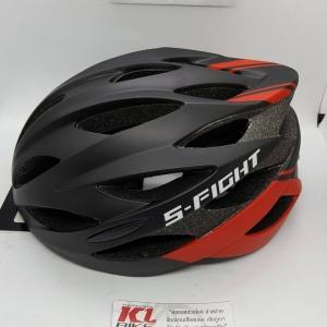 หมวกปั่น S-Fight รุ่น GH08 สีดำแดง สำหรับรอบศรีษะ 58-62 ซม.