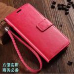 (พรีออเดอร์) เคส Oppo/A71-Flip case หนังสีเรียบ สีชมพู