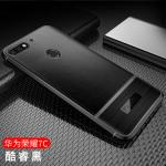 (พรีออเดอร์) เคส Huawei/Y7 Pro 2018-เคสนิ่มลายหนัง เรียบหรู สีดำ