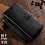 (พรีออเดอร์) เคส Oppo/A71-Flip case หนังสีเรียบ สีดำ