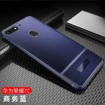 (พรีออเดอร์) เคส Huawei/Y7 Pro 2018-เคสนิ่มลายหนัง เรียบหรู สีน้ำเงิน